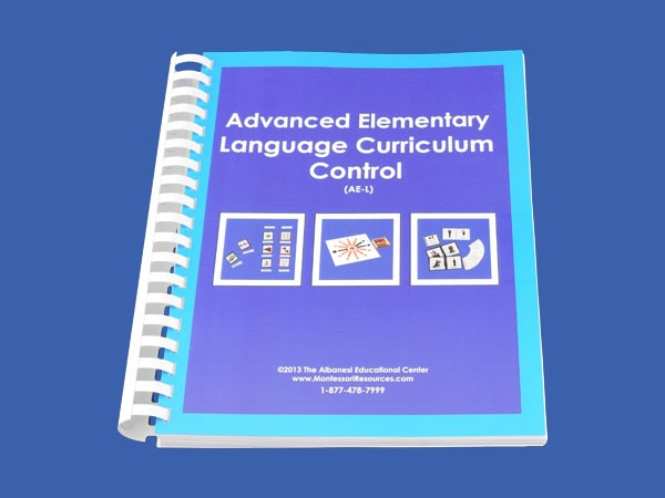 Language Control Book & Instruction Manual for Ages 9-12 ● AE-L.C