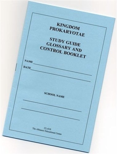 PROKARYOTAE Study Guide Booklet only ● CL-610-B