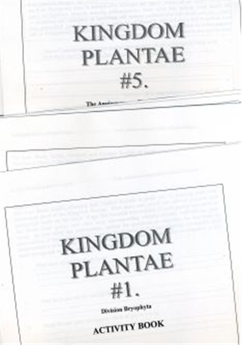 PLANTAE Set of 5 Activity Books only ● CL-640-C