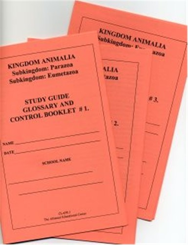 ANIMALIA Set of 3 Study Guide Booklets only ● CL-650-B