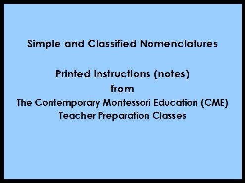 Simple & Classified Nomenclatures (CME Notes) ● LANG-CME-S-140A-146A