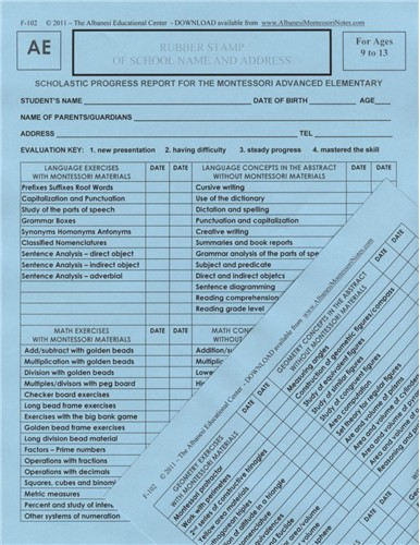 ADVANCED ELEMENTARY REPORTS ● F-102     ■NOT AVAILABLE IN HARD COPY■