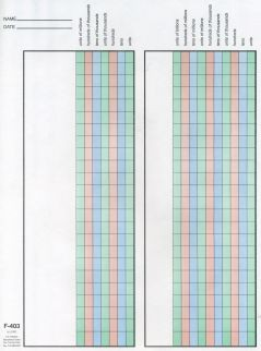 COLOR-CODED MATH PAPER /MILLIONS ● F-403