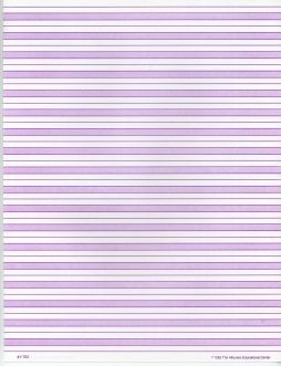 Purple Shaded Paper Full Page (Cursive) ● F-702