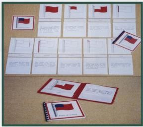 PARTS OF A FLAG & CONTROL BOOKLET ● GE-40 FLAG