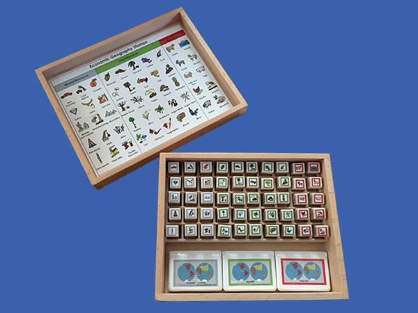 Economic Geography Rubber Stamps ● GE-50-S