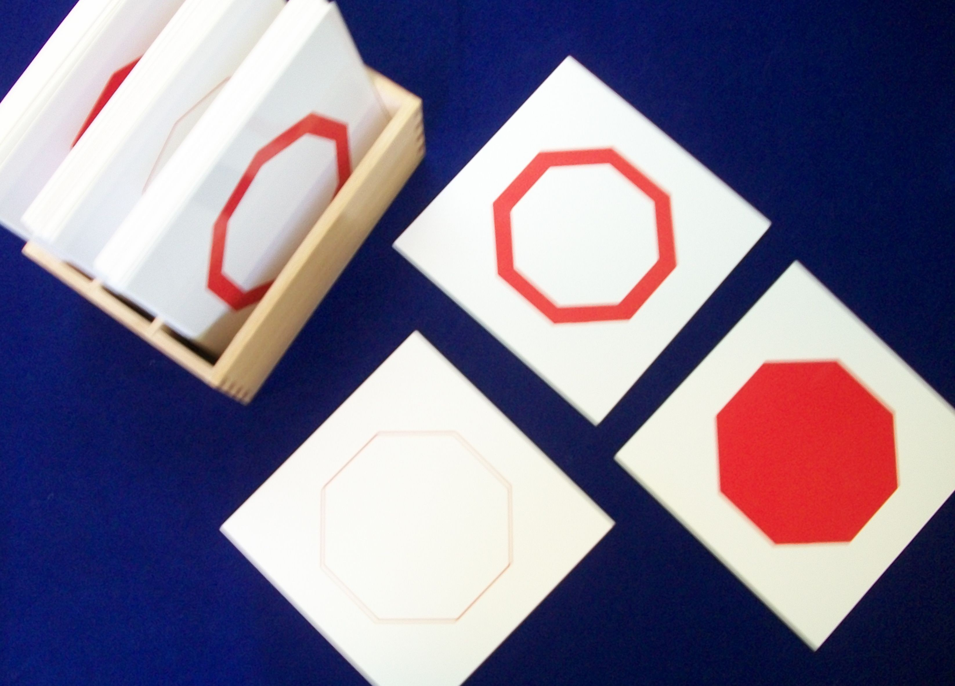 Geometry Cards of Shapes (solid/thick/thin) includes display box GZ-029    ♣AVAILABLE (qty 2)♣