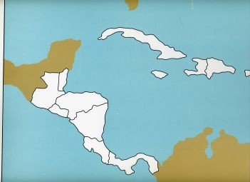 Cardboard Map of Central America         GZ-224.1      ►COMPLIMENTARY-ITEM  qty 1◄