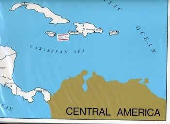 Cardboard Map of Centr. Am/Capitals/English   GZ-224.3    ►COMPLIMENTARY-ITEM◄