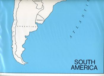 Cardboard Map of S. America/Countries/English   GZ-225.2    ►COMPLIMENTARY-ITEM qty 1◄
