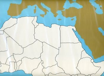 Cardboard Map of Africa     GZ-228.1    ►COMPLIMENTARY-ITEM qty 4◄