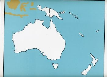 Cardboard Map of Oceania    GZ-229.1    ►COMPLIMENTARY-ITEM qty 6◄
