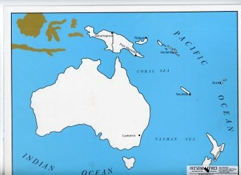 Cardboard Map of Oceania/Capitals/English    GZ-229.3    ►COMPLIMENTARY-ITEM◄