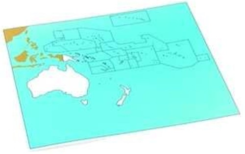Cardboard Map of S. Pacific Ocean     GZ-229.PC1    ►COMPLIMENTARY-ITEM qty 10◄