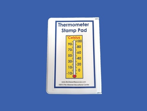 Celsius Thermometer Stamp Pad ● M-151-S    OUT OF STOCK