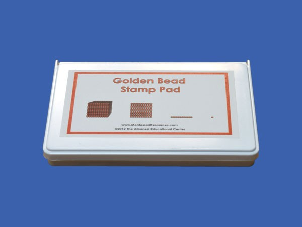 Ink Pad Only for Golden Bead Rubber Stamps ● M-152-S