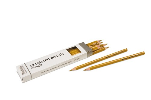 Box of 12 pencils: gold/720600     NH-051.9    ♣AVAILABLE qty 32♣