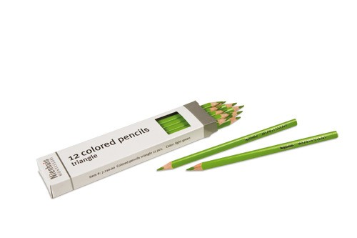 Box of 12 pencils: light green/721000    NH-051.13