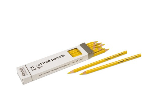 Box of 12 pencils: light yellow/721600    NH-051.20      ♣AVAILABLE qty 9♣