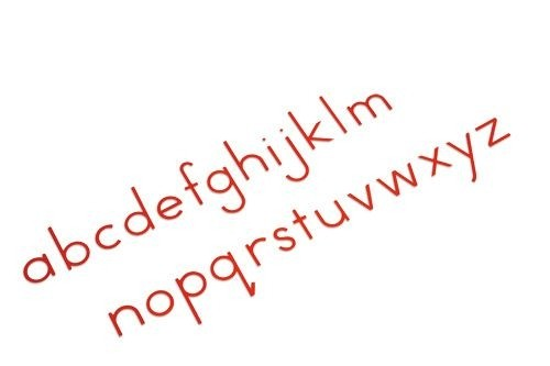 Small Movable Alphabet Print - Red/ 0060A3     NH-055.2   ■SOLD OUT■QUOTE REQUIRED■