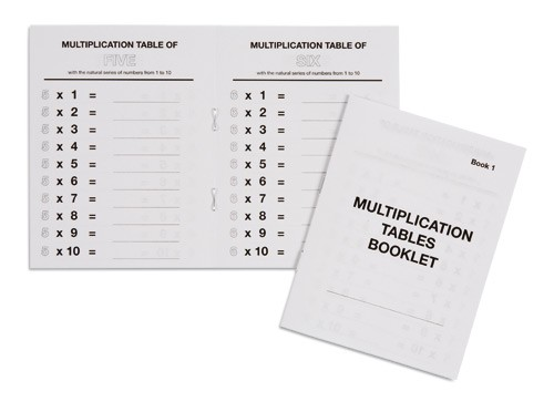 Multiplication Tables Booklet 1/559541     NH-123.1