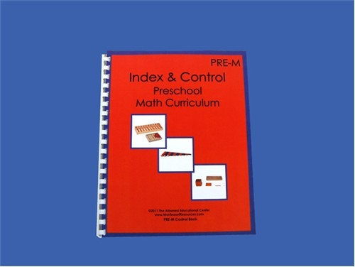Index & Instruction Math Book for Ages 3-6 ● PRE-M Index Book