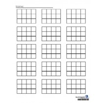 PLAIN MATH PAPER FOR STAMP GAME (batch of 250 sheets) ● F-405