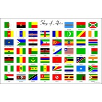 Laminated Flag Chart Of Africa      KB-266352       ►COMPLIMENTARY ITEM◄