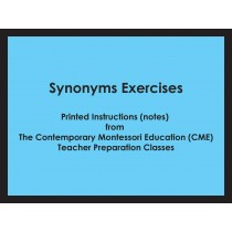 Synonyms Exercises (CME notes) ● LANG-CME-304