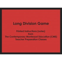 Long Division Game (CME notes) ● MATH-CME-145