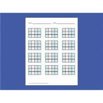 ■ OUT OF STOCK■  COLOR-CODED MATH PAPER FOR STAMP GAME (batch of 250 sheets) ● F-406