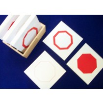 Geometry Cards of Shapes (solid/thick/thin) includes display box GZ-029    ♣AVAILABLE (qty 1)♣