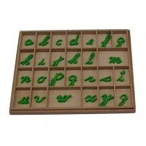 Small Movable Alphabet - Cursive - Green       GZ-054.7       ♣AVAILABLE (qty 2)♣