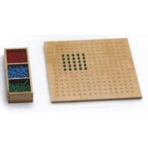 Square Root Board with Beads       GZ-155            ♣AVAILABLE (qty 1)♣