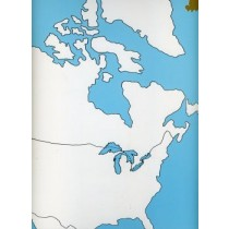 Cardboard Map of N America   GZ-222.1           ►COMPLIMENTARY-ITEM◄