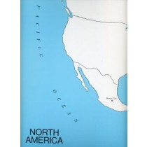 Cardboard Map of N Am/Capitals/English GZ-222.3     ►COMPLIMENTARY-ITEM  qty 2◄
