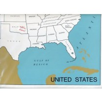 Cardboard Map of USA/States/English  GZ-223.A2       ►COMPLIMENTARY-ITEM
