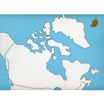 Cardboard Map of CANADA    GZ-223.CA1   ►COMPLIMENTARY-ITEM qty 6◄