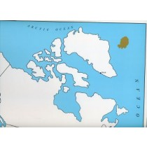 Cardboard Map of CANADA /Capitals/English GZ-223.CA3