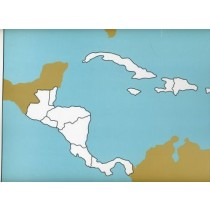 Cardboard Map of Central America         GZ-224.1      ►COMPLIMENTARY-ITEM◄