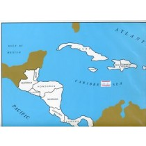 Cardboard Map of Central America         GZ-224.2      ►COMPLIMENTARY-ITEM  qty 2◄