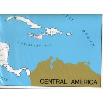 Cardboard Map of Centr. Am/Capitals/English   GZ-224.3    ►COMPLIMENTARY-ITEM qty 1◄