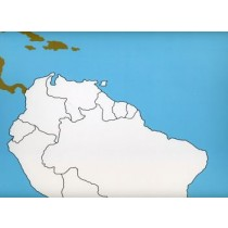 Cardboard map of South America    GZ-225.1   ►COMPLIMENTARY-ITEM◄