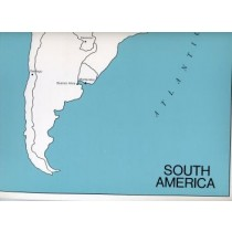 Cardboard Map of S. America/Capitals/English   GZ-225.3   ►COMPLIMENTARY-ITEM qty 2◄
