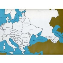 Cardboard Map of Europe/Countries/English   GZ-226.2    ►COMPLIMENTARY-ITEM qty 1◄
