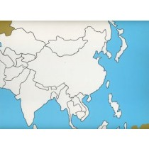 Cardboard Map of Asia   GZ-227.1     ►COMPLIMENTARY-ITEM qty 2◄