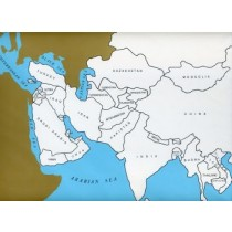 Cardboard Map of Asia/Countries/English   GZ-227.2   ►COMPLIMENTARY-ITEM◄