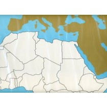 Cardboard Map of Africa     GZ-228.1    ►COMPLIMENTARY-ITEM◄