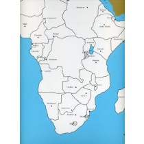 Cardboard Map of Africa/Capitals/English    GZ-228.3     ►COMPLIMENTARY-ITEM◄