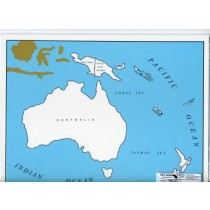 Cardboard Map of Oceania/Countries/English      GZ-229.2     ►COMPLIMENTARY-ITEM◄